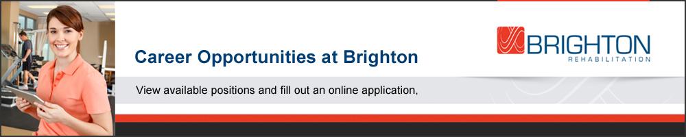 Brighton Rehabilitation Careers